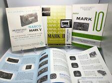 NARCO AIRCRAFT RADIO EQUIPMENT Lot of  4 Brochures & Catalog 1960s Mark II V 10