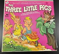 The Rocking Horse Players & Orchestra THE THREE LITTLE PIGS VINYL LP ALBUM VG+