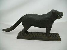 "Vintage Original 1890's Cast Iron Dog Tray Nut Cracker HARPER SUPPLY CO. 13""x 6"""