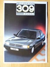 PEUGEOT 309 3-Door Range 1987 UK Market sales brochure prospekt