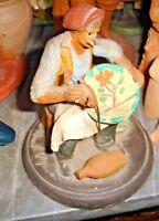 statuetta ceramica CALTAGIRONE - 'U CONZALEMME firmata MANUELLO anni '70