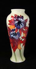 Moorcroft Ruby Red Vase - 122/8 - Emma Bossons -  Made in England.