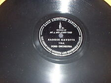 78RPM Henry Ford Museum 110 Ford Orch., Badger Gavotte / Varsovienne E-