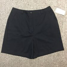 WOMENS SIZE 16 STUDIO WORKS BLACK COTTON BLEND CASUAL HIGH RISE SHORTS!~NWT!~