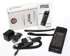 Vintage Nokia PT128 Handheld Cell Phone w/Accessories