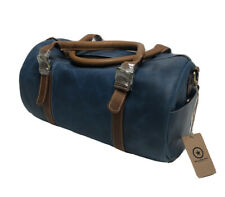 Leather Travel Duffels Duffle Bag Gym Sports Airplane Luggage Carry-On By Aaron