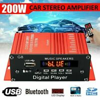 200W HIFI Digital bluetooth Stereo Audio Power Amplifier AMP AUX FM Mic+ Remote