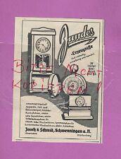 Schwenningen, publicité 1939, Jauch & schmid JUNDES temps de travail-contrôle-Appareils