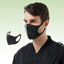 Reusable Face Cover with Filters Valved Anti Fog Face Cloth Washable Anti Dust
