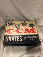 CCM Professional Tube Blade Vintage Skates With Box Sz 7 Barely Used