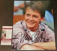 MICHAEL J FOX 11x14 BACK TO THE FUTURE Autographed Photo Picture Signed JSA PSA
