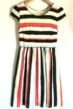 Maeve Women's White Multi-colored Dress Anthropologie Size 2 Short Sleeved