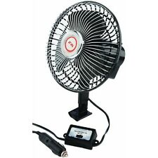 "Car Pickup Truck 6"" 12V 2 Speed Auto Oscillating Fan w/ Bracket 40009"