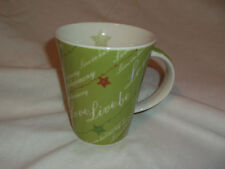2006  Starbucks Love Live Be Harmony 12 oz Coffee Cup Mug Stars Lime Green