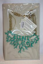 NEW! NWT! AMRITA SINGH Turquoise Enamel CORAL BRANCH Statement Necklace NKC93