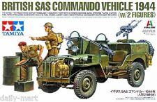 Tamiya 1/35 25152 British SAS Commando Vehicle 1944 (w/2 Figure) Model Kit