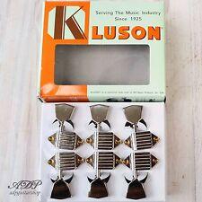 MECANIQUES VINTAGE KLUSON WAFFLEBACK TUNERS 15:1 GIBSON 3x3 Metal TIP NICKEL