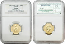 Australia 2002 Year of the Horse 1/4 oz Gold NGC MS 69