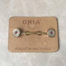 ORIA Boutons De Chemise Plaqué Or 1900 Art Nouveau Jugendstil Dandy Gold Filled