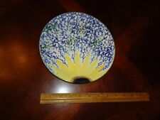 "BEAUTIFUL Poole Pottery England Vincent Hand Painted Sunflower 8 1/2"" Plate"