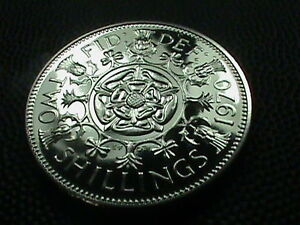 Proof Queen Elizabeth11  1970 Florin Two Shillings Coin,Last year Mintage,