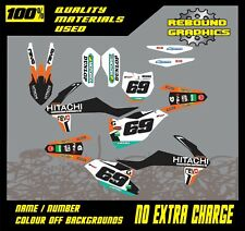 KTM SX 50 65MOTORCROSS Graphics Kit Sticker Kit Decals MX HITACHI