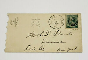 Vintage Antique 1888 Envelope with Green Two Cent Stamp