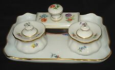 AUTHENTIC MEISSEN INKWELL 6 PIECES DESK SET