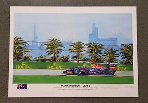 Mark Webber Formula 1 A3 Print Artwork Red bull