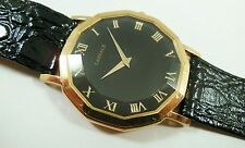 Lassale by Seiko Gold Tone Metal BLK 7N00-5060 Leather Sample Watch NON-WORKING