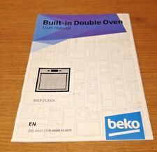Genuine BEKO BXDF21100X Built In Oven Instruction Manual User Guide