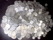 1 oz Of 90% Junk Silver lot U.S. Coins Half Dollars Dimes Quarters W/ Dates G-Bu