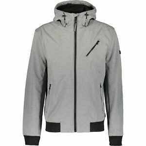 MICHAEL KORS Men's GRAFTON Hooded Jacket, Charcoal Heather, size M
