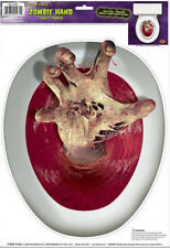 TOILET BOWL SEAT DECORATION Zombie cling bathroom lid decal sticker Halloween