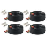 Tonton 4x100ft 30M BNC RCA Cord CCTV Video Power Cable for CCV Security Camera