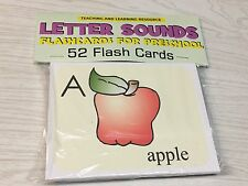 Letter Sounds - Flashcards for Preschool 52 Cards- Letters Teaching supplies