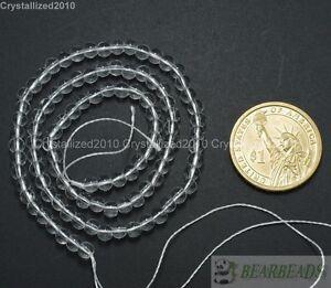 "Crystal Quartz Gemstone Smooth Round Ball Spacer Beads 4mm 6mm 8mm 10mm 12mm 16"""