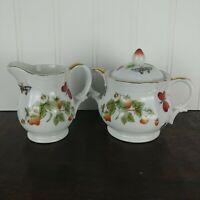 Lenwile Ardalt, Springtime, Strawberry Pattern Cream and Sugar Set (Japan)
