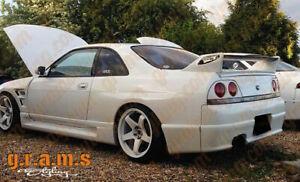 GTR Style Rear Fenders +50mm for Nissan Skyline R33 Wide Body Conversion v8