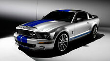 2008 FORD MUSTANG SHELBY GT500KR COBRA CAR POSTER STYLE B 20x36 HI RES