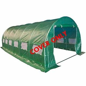 COVER ONLY-Large Greenhouse Polytunnel Windows 6x3x2m Garden Patio Use
