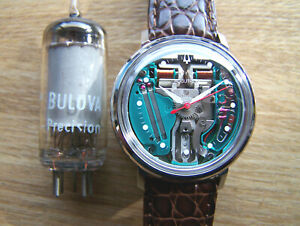 Accutron 214H Stainless 1967 M7 SPACEVIEW Tuning Fork Electronic rebuilt Great