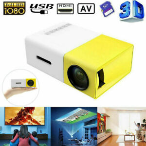 1080P HD Theater Projector Cinema LED LCD Home Mini Projector  USB HDMI AV SD