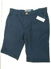 Old Navy Girls Bermuda Stretch Expandable Uniform Shorts Nwt Navy Size 14 R x 10
