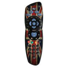 BANDIERA UK retrò Design Vinile Adesivo della pelle per TV Sky + controller remoto