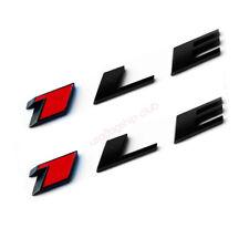 2x OEM  Black 1LE Emblems Alloy 3D Badge for GM 2010-17 CAMARO 1LE  Fu Red