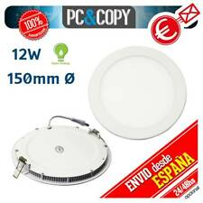 R1063 Downlight Panel LED 12W Techo Luz Blanca Redonda Fina Empotrable