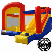 Mighty Bounce House - Super Slide - Inflatable Kids Jumper with Blower