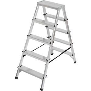 Brennenstuhl Double Ladder Aluminium 2x5 Steps Height Steppladder 1,04m