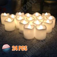 *24PCS* Flameless Candles Battery Operated Wedding Flickering Xmas LED Tea Light